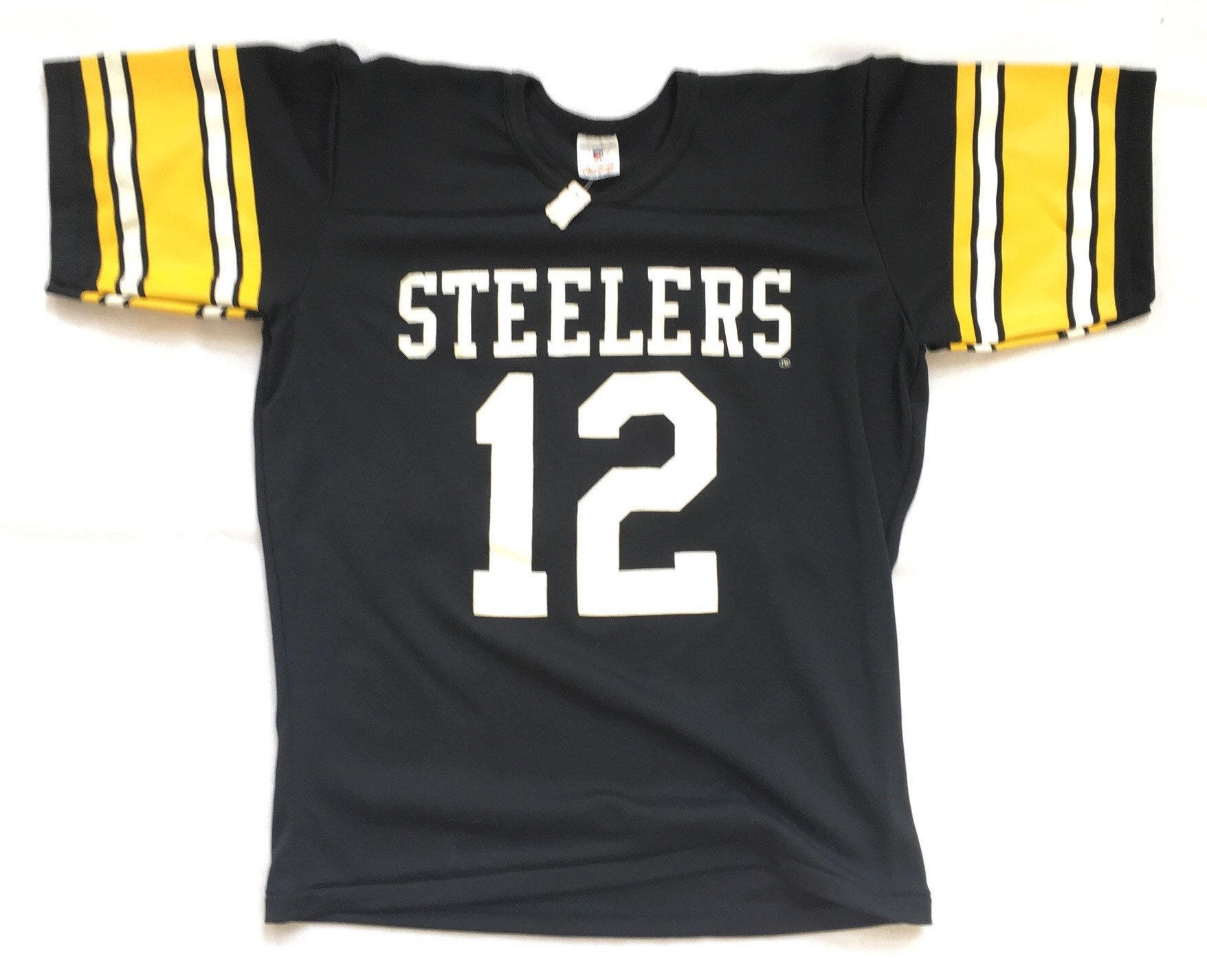 more photos 89185 1da77 80s Deadstock Football Jersey / Vintage Pittsburgh Steelers Jersey /  Vintage Terry Bradshaw Jersey - 80s Deadstock Rawlings Football Jersey