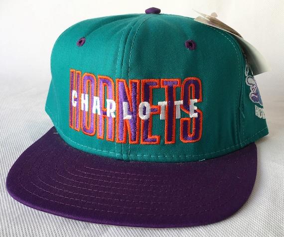 735beef8c4f7b 90s Snapback90s Snapback Vintage Charlotte Hornets Snapback