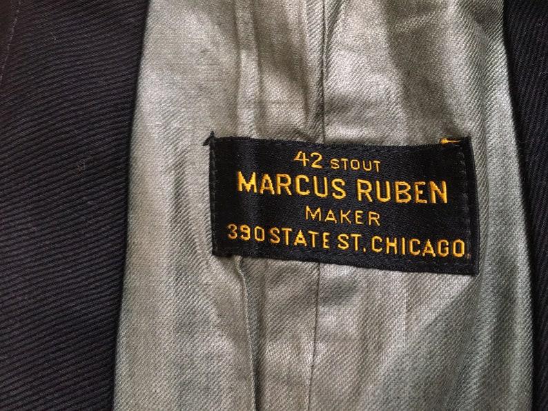Old Stock 1940s Waistcoat Vest Vintage Steam Punk vest  Victorian Style Suit Vest Tuxedo Vest Size 40 42S