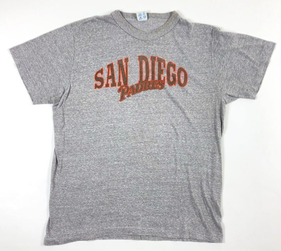 quality design be560 ae238 90s Champion T Shirt - San Diego Padres // 90s Vintage Tri-Blend T Shirt  San Diego Padres / Gray Tri-blend soft thin grey 90s t shirt