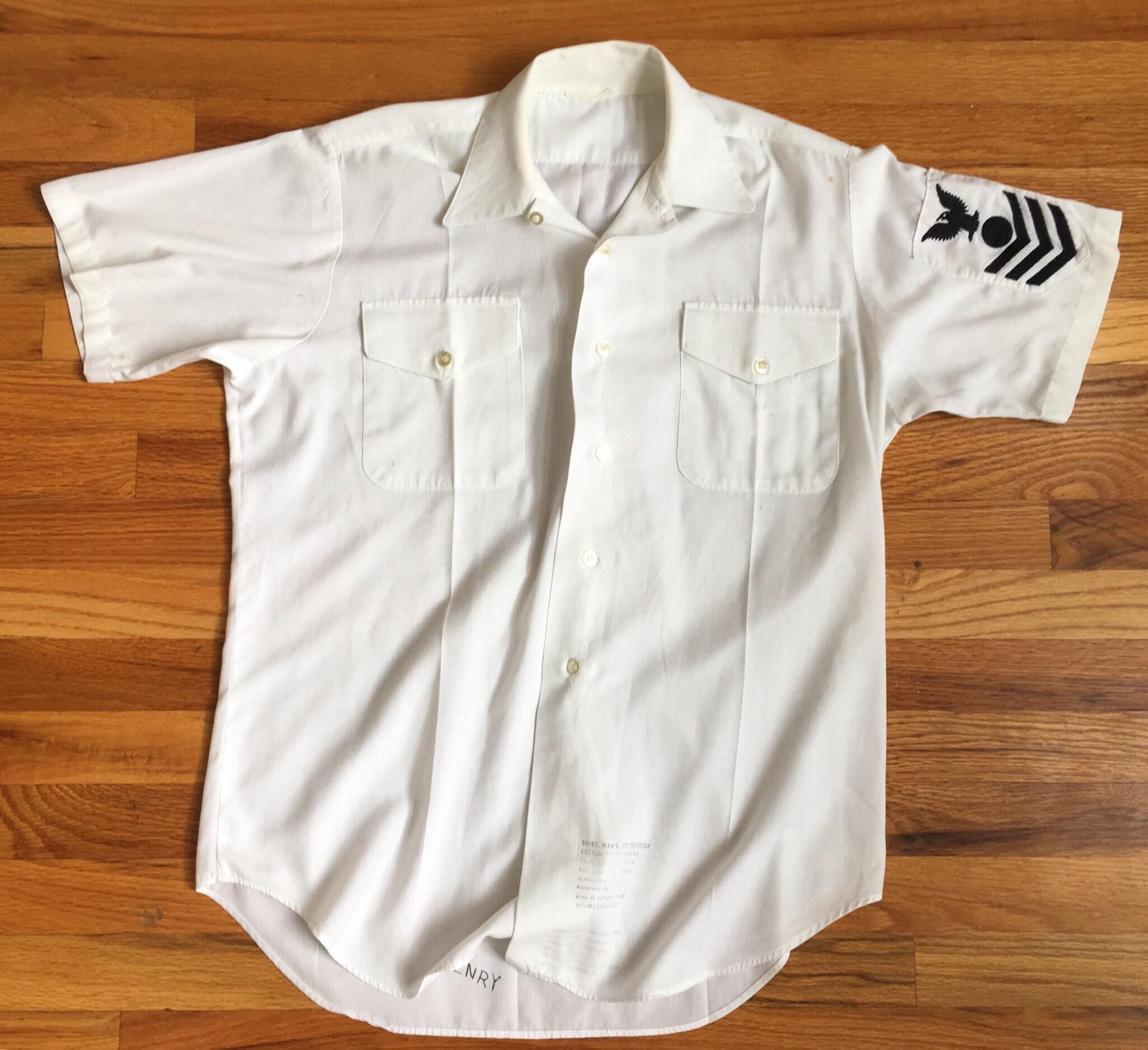 1e165059 White Military Dress Shirt - DREAMWORKS