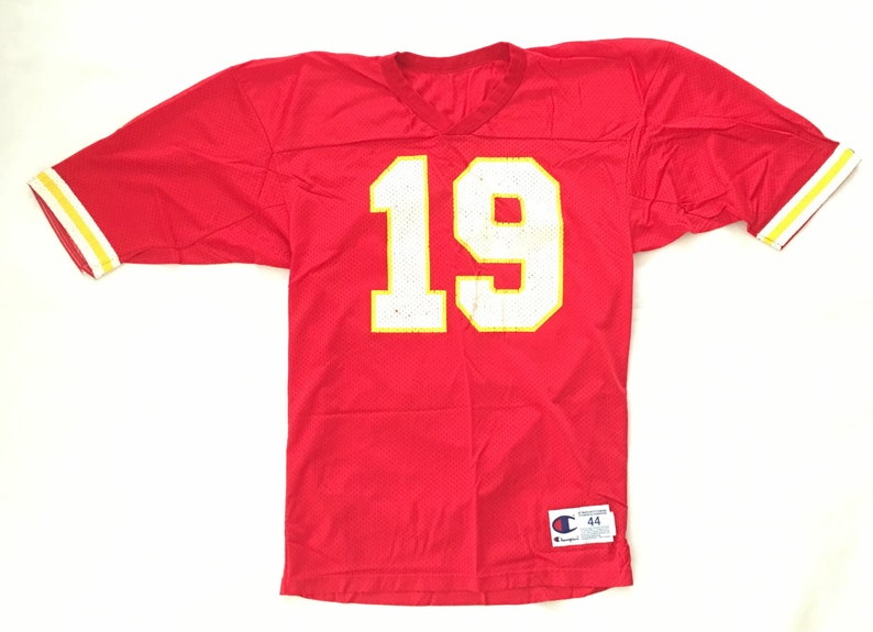 newest 699af 05e95 90s Joe Montana Kansas City Chiefs Jersey #19 Joe Montana / 90s Champion  Jersey