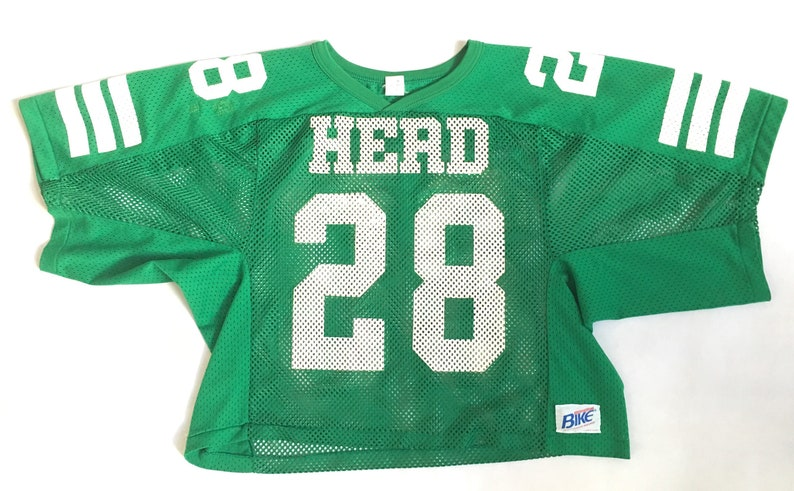 80s 90s Crop Top Mesh Jersey  Vintage 90s MARSHALL University  5dfee35d9