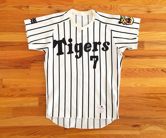 reputable site c1ca1 e81c9 90s Osaka Tigers Jersey Vintage Japanese Baseball Jersey / Tigers Baseball  Jersey / Japanese Baseball League / Stitched Authentic Game Worn