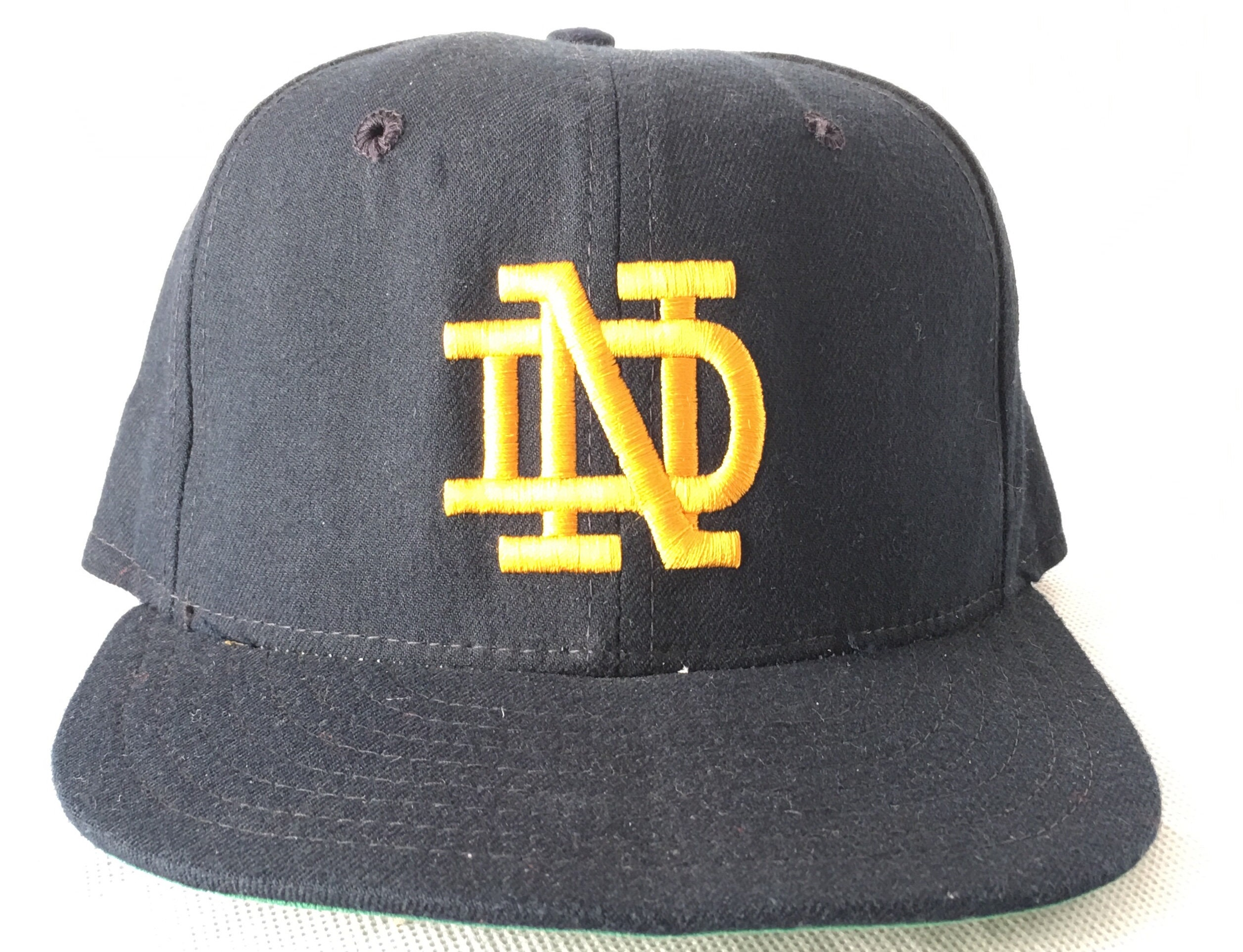 43934675 ... netherlands vintage notre dame hat lou holtz hat size 6 7 8 975d9 bb383