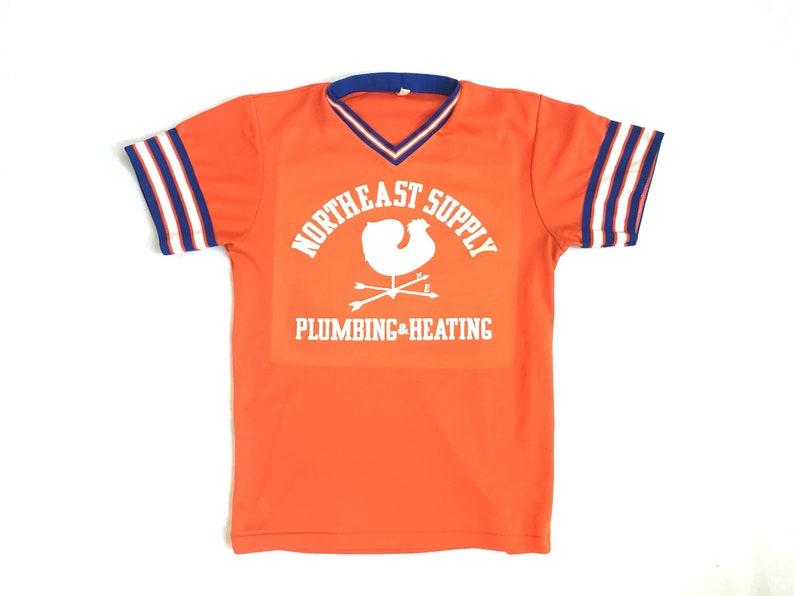 premium selection f7222 761d7 Vintage Baseball Jersey / Southern Athletic Brand / Vintage Jersey Little  League / Northeast Supply Orange Soft Vintage Size Large Baseball
