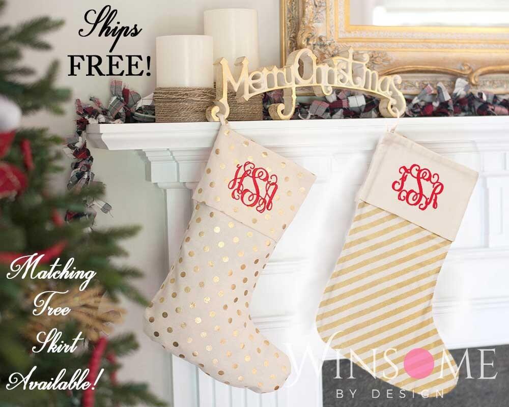 Christmas-Stockings-Monogram-Christmas Stockings-Family | Etsy