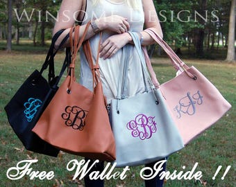 Personalized Pocketbook-Monogram Leather Hand Bag-Monogram Leather Purse-Monogram Tote-Monogram Pocket Book-Hobo Bag-Monogram Pocket Book