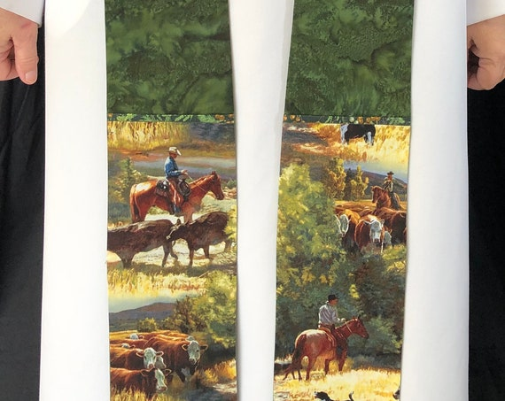 Cowboy Clergy stoles, Rugged Clergy Stole, Rural Churches, ordinary times, clergy stole, priest stole, green stole, G012