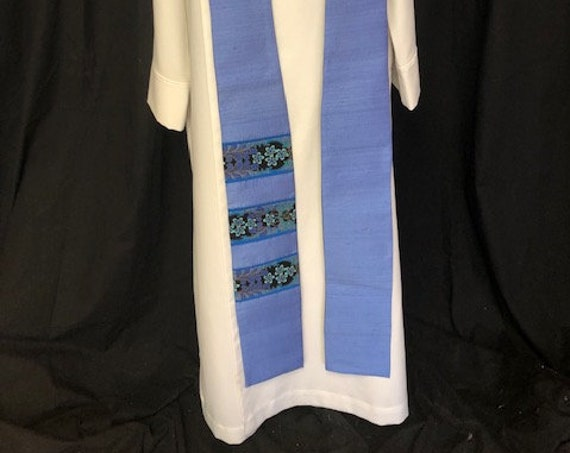 Blue Advent clergy stoles, blue clergy stole, lent stole, clergy stole, advent priest stole, purple stole, blue stole, pastor stole, B015