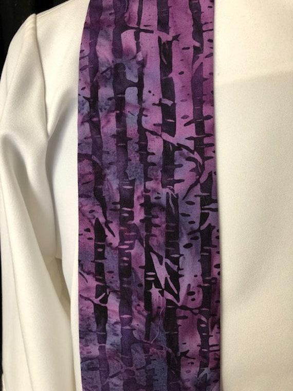 Purple Lenten thorns stole