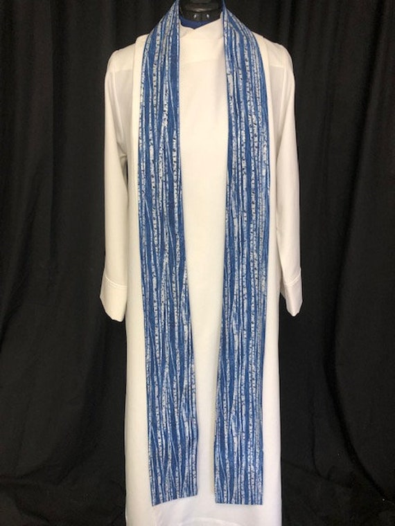 Advent clergy stoles, lent stole, clergy stole, advent priest stole, blue stole, pastor stole, B018