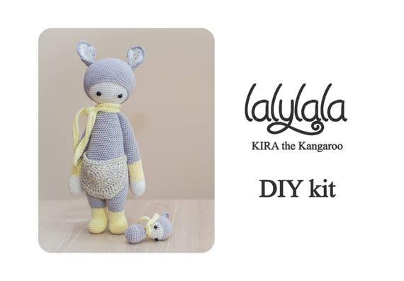 Gele Lalylala Kira Patroon Diy Kit Kira De Kangoeroe Diy Etsy