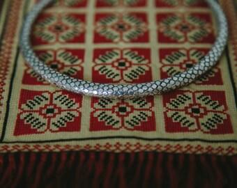 Serpentine Choker,Silver,BOHO Style,70s LOOK,Vintage Choker,Snake Skin Choker