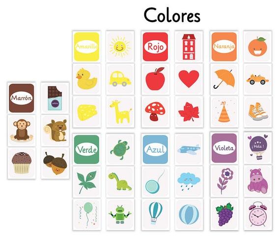 tarjetas infantiles tarjetas imprimibles tarjetas colores | Etsy