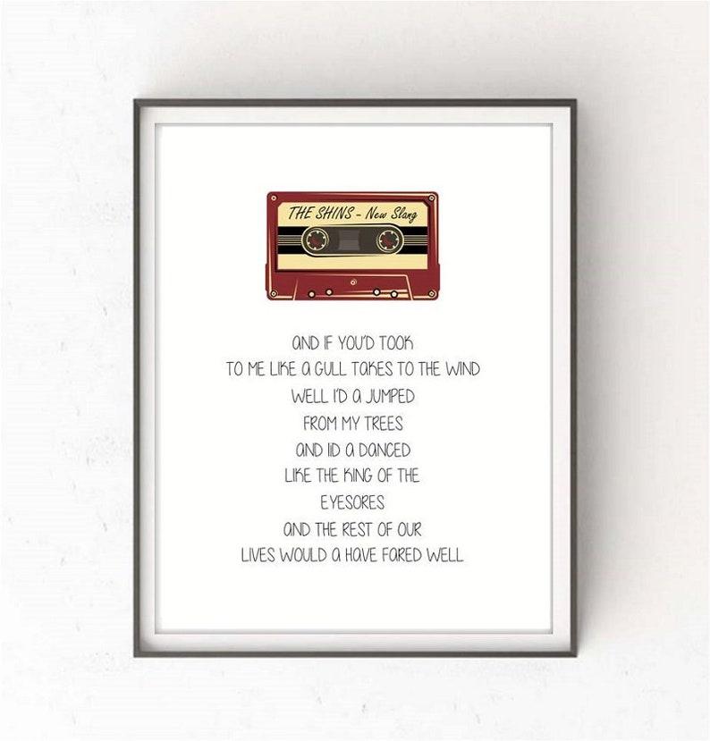 0e29e97e6d5b THE SHINS New Slang letras musica laminas musica lamina