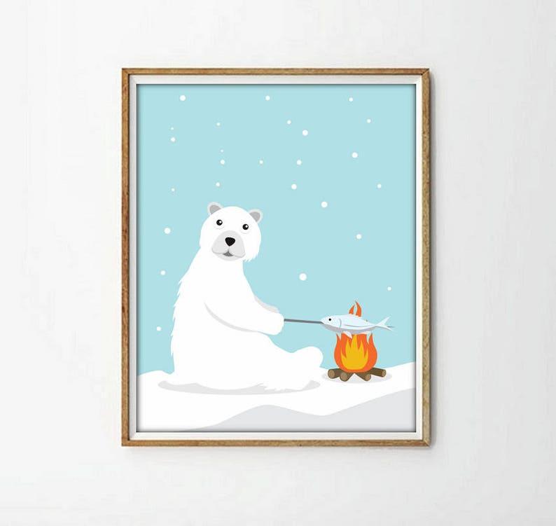 Eisbär Tiere Tiere Kinder Bettwäsche Bettwäsche Kinder Etsy