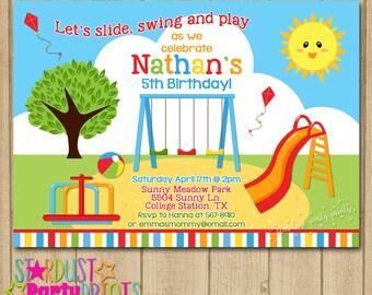 Playground Invite Etsy