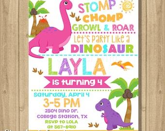 Dinosaur birthday invitation dinosaur invitation dinosaur etsy girl dinosaur invitation girl dinosaur birthday invitation girl dinosaur invitation dinosaur invitation filmwisefo