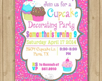 cupcake invitation cupcake decorating invitation cupcake