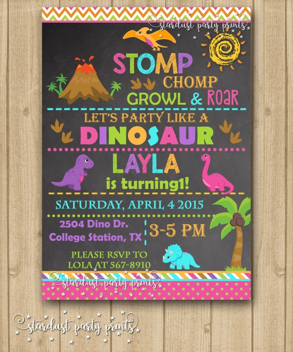 Girl dinosaur invitation girl dinosaur birthday invitation girl girl dinosaur invitation girl dinosaur birthday invitation girl dinosaur chalkboard invitation dinosaur invitation filmwisefo