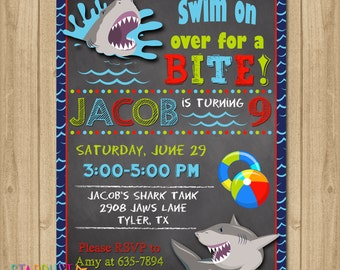 pool party invitation shark invitation for pool party