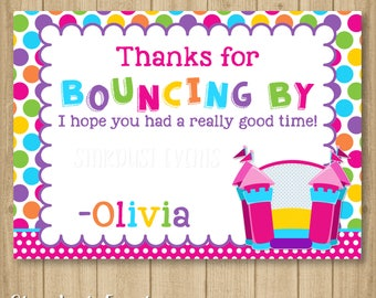 Bounce Castle Thank You Card, Bounce Thank You Card, Thank You Card