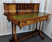 FOR SALE Fabulous George III Style Leather Top Mahogany Writing Desk