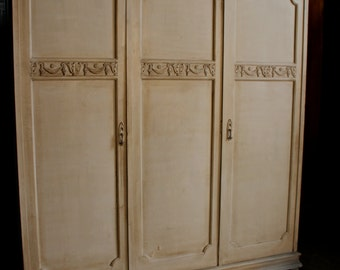 SOLD *** Similar Antique Pieces en route****  Capacious Antique Edwardian 'Knock Down' Triple Armoire / Wardrobe