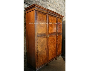 FOR SALE Outstanding Antique Breakfront 'Knock Down' Triple Armoire