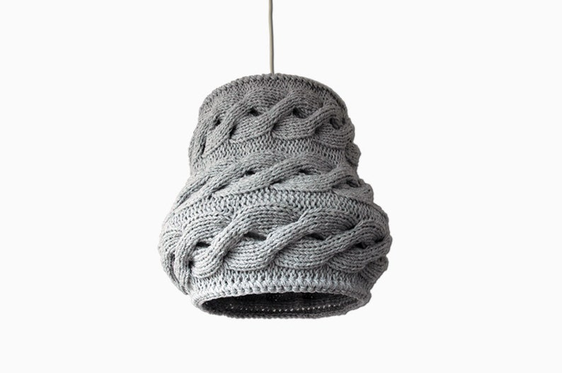 Knitted Lampshade LUUKA / Pendant Light / Unique Knitted Home image 0