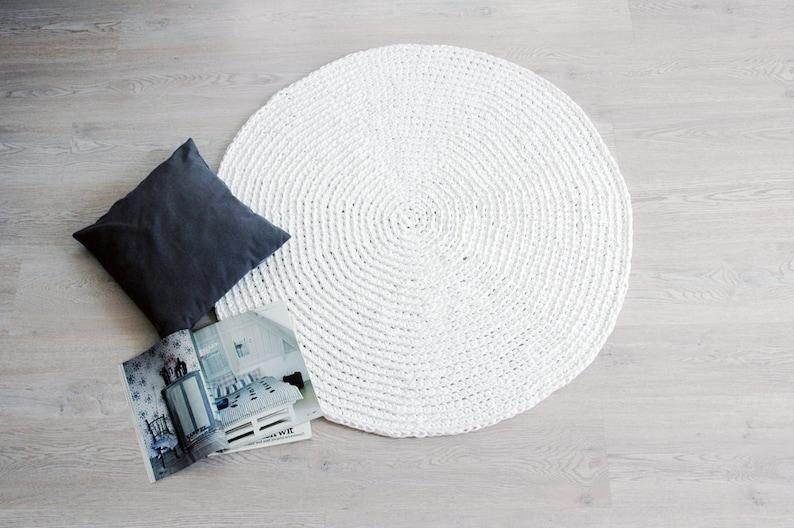 Crochet Carpet RUUGY / Boho Area Rug / Chunky Nursery Rug / image 0