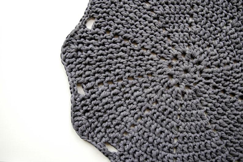 Doily Crochet Rug LUULO / Boho Area Rag / Chunky Crocheted image 0