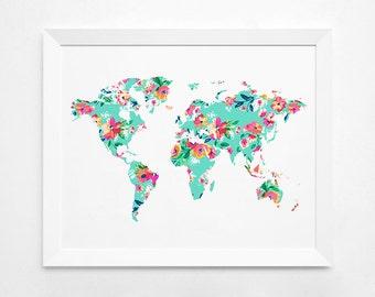 World Map Gold Art Print Instant Download Printable Decor | Etsy
