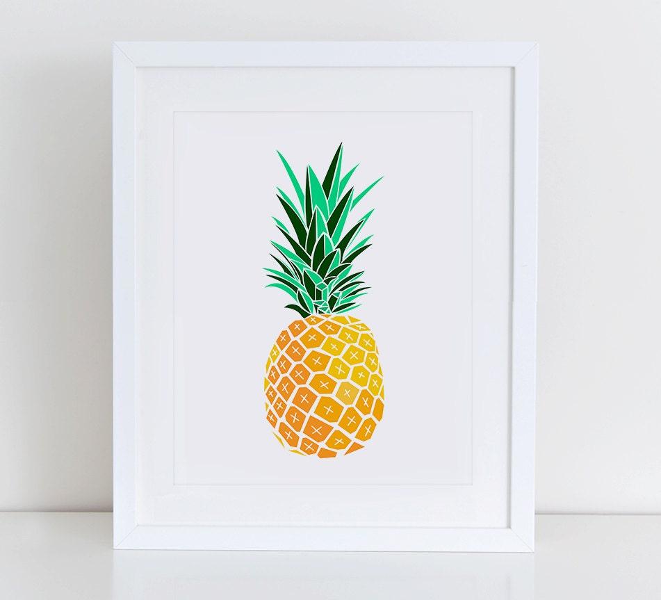 pineapple art prints
