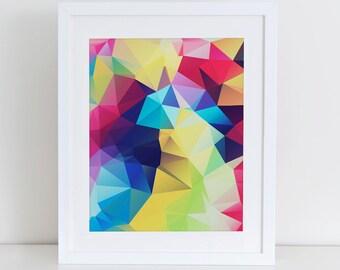Abstract Geometric Art Print Printable, Instant Download, Printable Home Decor, Digital Art Print, Colorful Abstract, Abstract Wall Decor