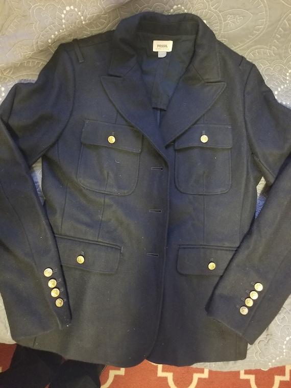 Vintage Fossil Blazer Jacket Styled Coat