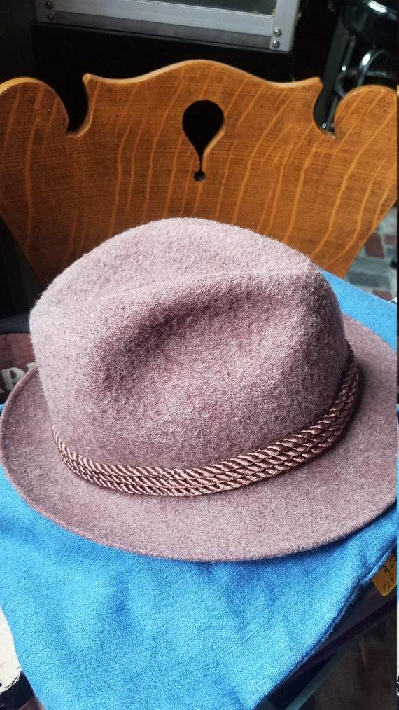 Vintage 50s Dobbs Fifth Avenue Wool Fedora