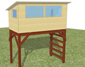 Savanna bird hide - plans for a free standing playhouse