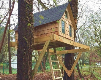 one tree house plans diy alpino treehouse plans for or trees san pedro to build in one tree free etsy