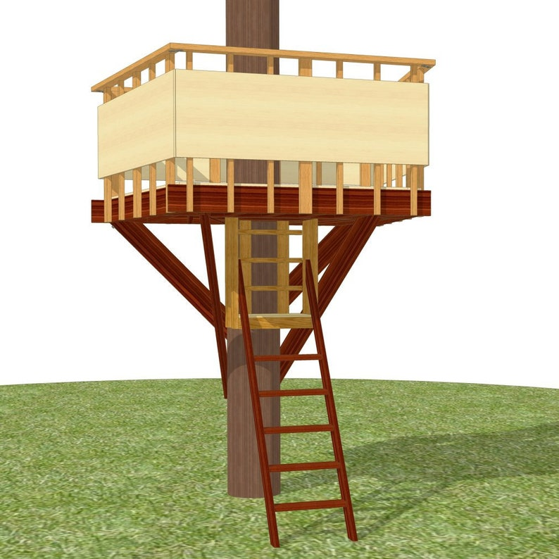 Outpost tree fort  plans for one tree image 0