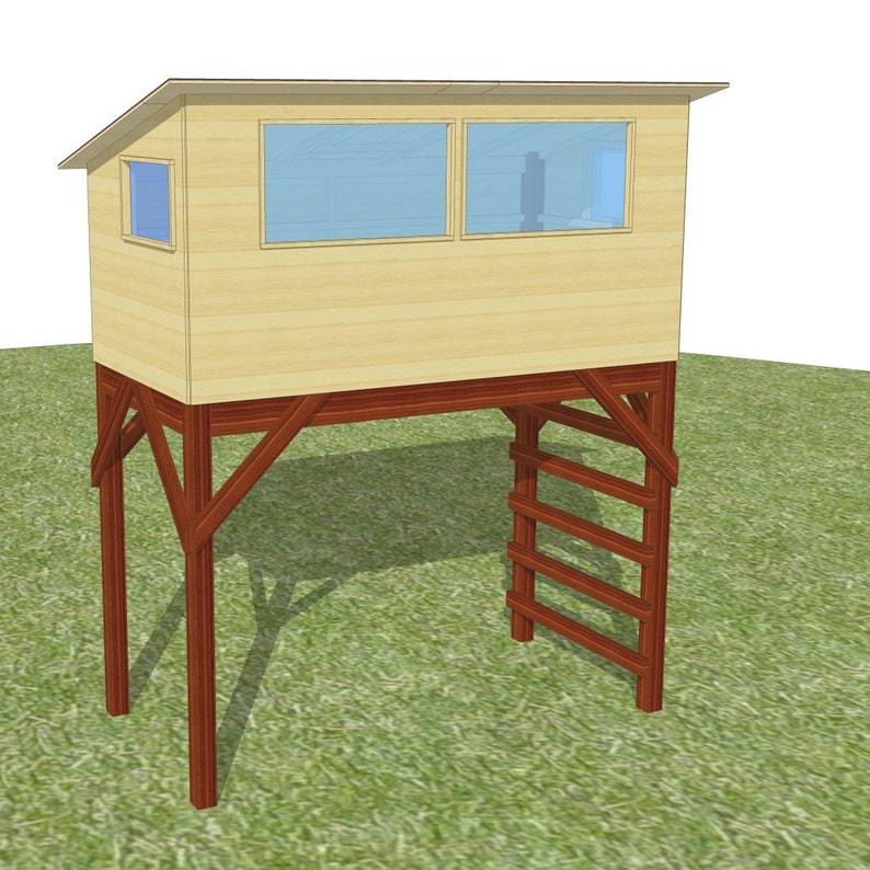 Savanna bird hide  plans for a free standing playhouse image 0