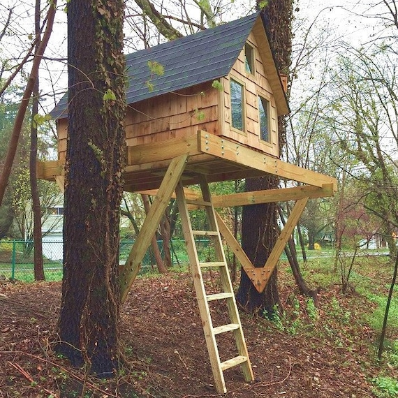 Backyard Treehouse Plans For Kids