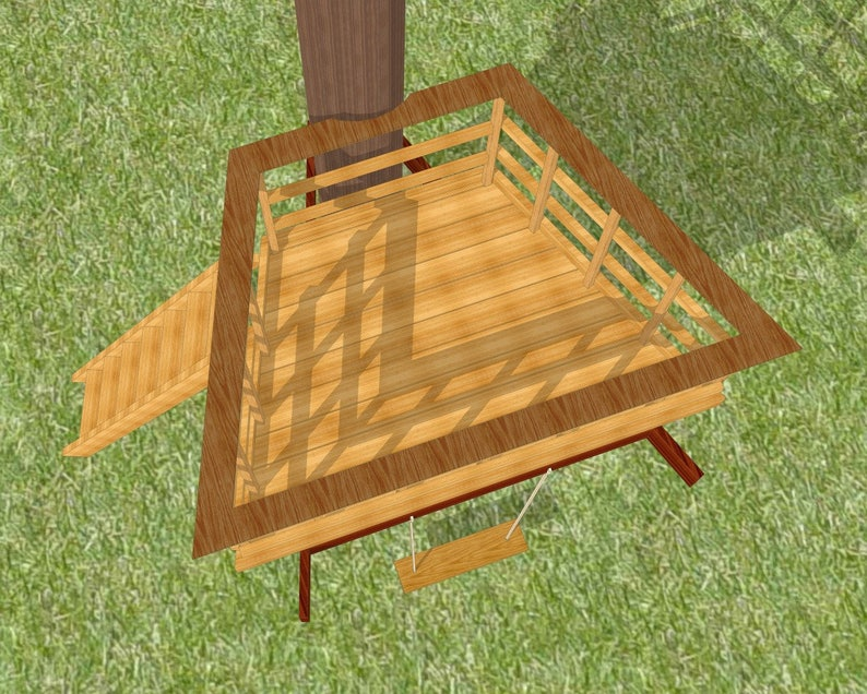 Terrazza tree deck  plans for one tree image 2