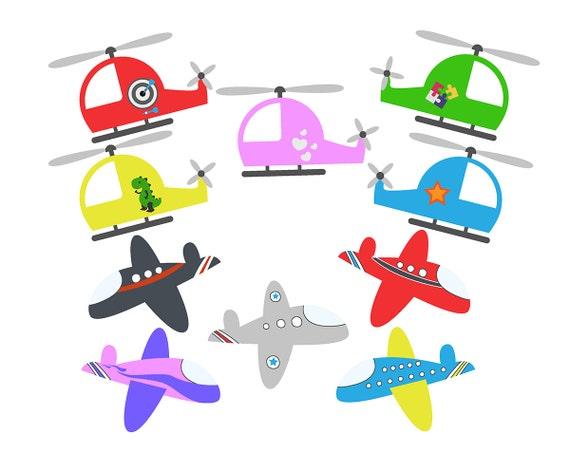 sale planes clipart set helicopters clip art set aeroplane etsy rh etsy com plane clip art free images plains clip art