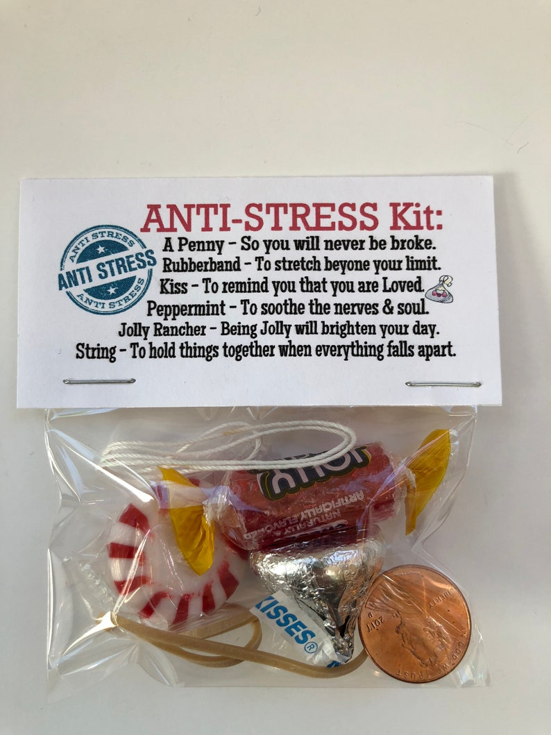 ANTI STRESS Kit Gag Gift Bags Funny Silly Prank Goody