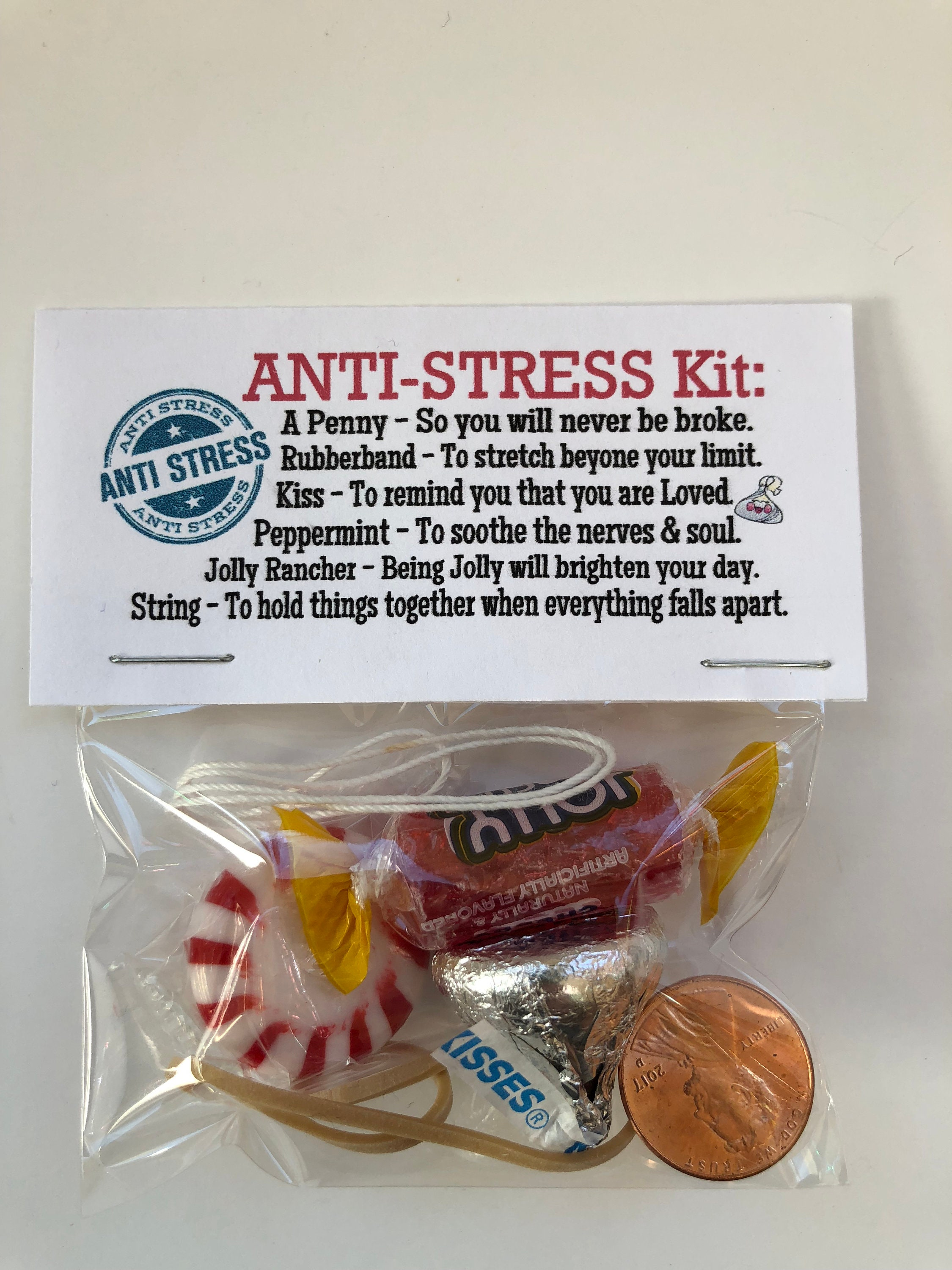 ANTI STRESS Kit Gag Gift Bags Funny Silly Prank Goody