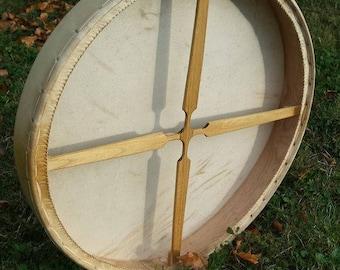 Shaman Drum , red deer hide , 65cm diameter