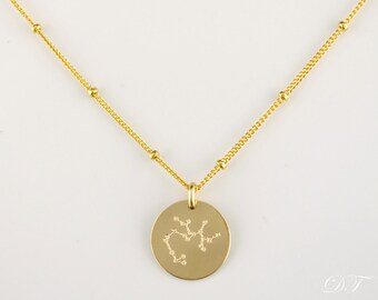 Constellation Necklace, Zodiac Jewelry, Astrology Zodiac Necklace, Pisces Necklace, libra, virgo, scorpio, sagittarius, capricorn necklace