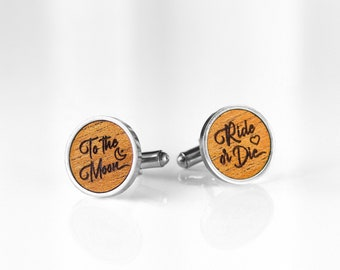 Date Personalized Monogram Fifth Anniversary Gift Wood. Groom Gift Custom Coordinate Cufflinks Groomsmen Wedding State